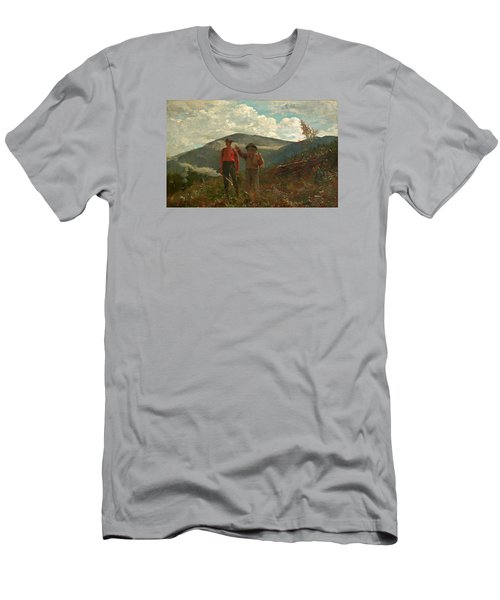Men's T-Shirt (Slim Fit) featuring the painting The Two Guides by Winslow Homer