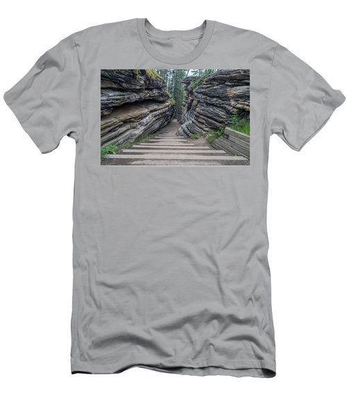 The Unknown Path Men's T-Shirt (Slim Fit) by Alpha Wanderlust