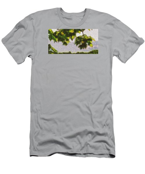 Men's T-Shirt (Slim Fit) featuring the digital art The Vibrating Sky Beyond by Spyder Webb
