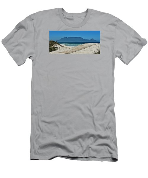 Men's T-Shirt (Slim Fit) featuring the photograph The View At Table Mountain by Werner Lehmann