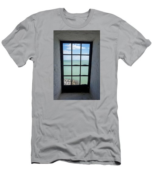 The View From The Lighthouse Window Bill Baggs Lighthouse Key Biscayne Florida Men's T-Shirt (Athletic Fit)