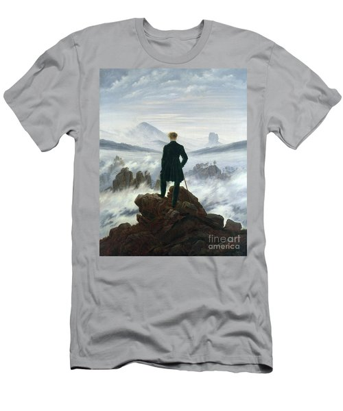 The Wanderer Above The Sea Of Fog Men's T-Shirt (Athletic Fit)