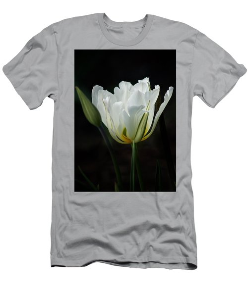 Men's T-Shirt (Slim Fit) featuring the photograph The White Tulip by Richard Cummings