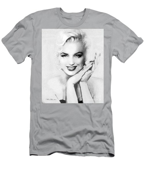 Theo's Marilyn 133 Bw Men's T-Shirt (Athletic Fit)