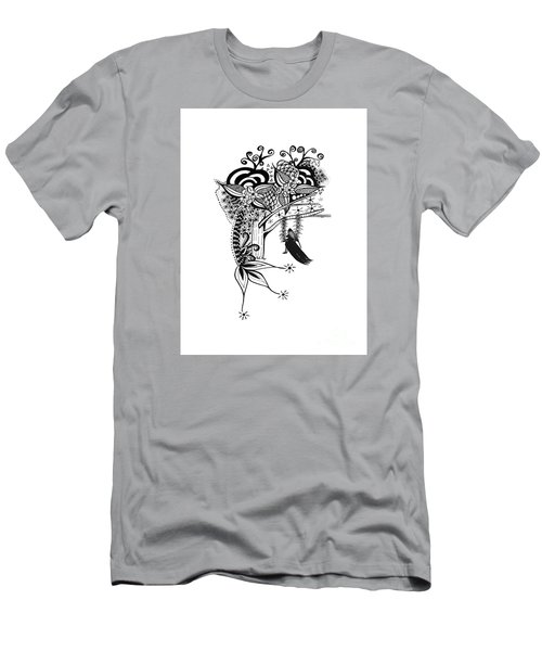 The Swing Pen And Ink Drawing Illustration Men's T-Shirt (Slim Fit) by Saribelle Rodriguez