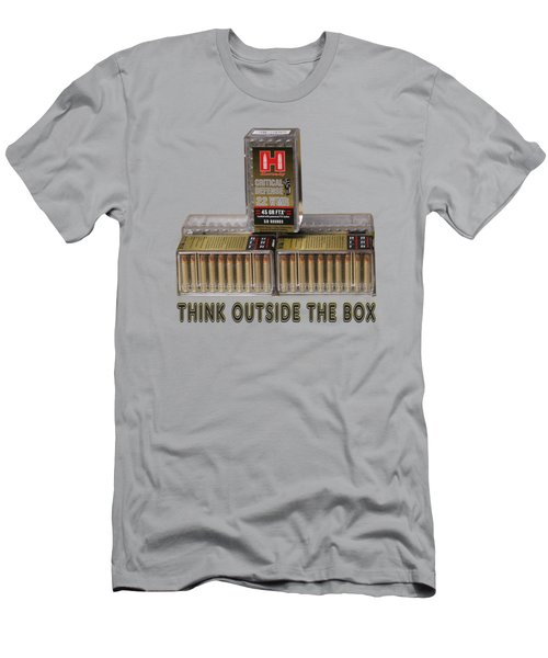 Think Outside The Box Men's T-Shirt (Slim Fit) by EricaMaxine  Price