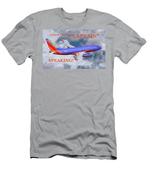 This Is Your Captain Speaking Southwest Airlines Men's T-Shirt (Athletic Fit)