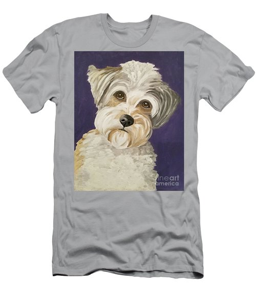 Men's T-Shirt (Slim Fit) featuring the painting Those Eyes by Ania M Milo
