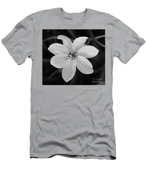 Threadleaf In Black And White Men's T-Shirt (Athletic Fit)