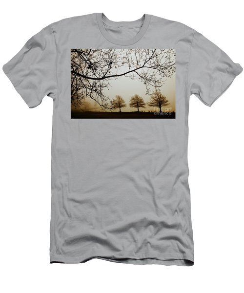 Men's T-Shirt (Slim Fit) featuring the photograph Three Cypress In The Mist by Iris Greenwell