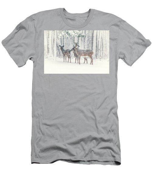 Three Deer Come Calling Men's T-Shirt (Athletic Fit)