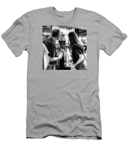 Three Men On A Sidewalk Men's T-Shirt (Athletic Fit)