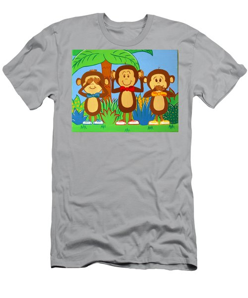 Three Monkeys No Evil Men's T-Shirt (Athletic Fit)