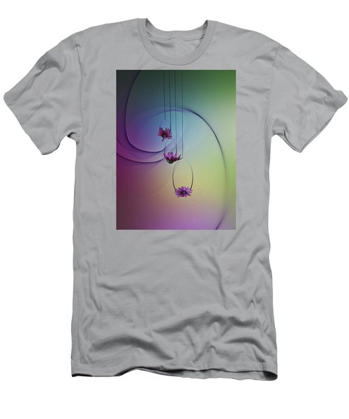 Men's T-Shirt (Slim Fit) featuring the photograph Three Swings by Judy Johnson