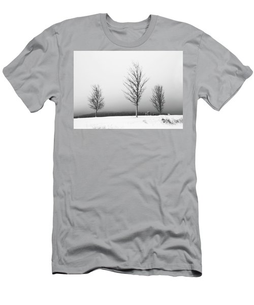 Three Trees In Winter Men's T-Shirt (Slim Fit) by Brooke T Ryan