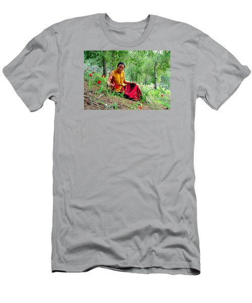 Tibetan Doctor In Lahav Forest Men's T-Shirt (Athletic Fit)
