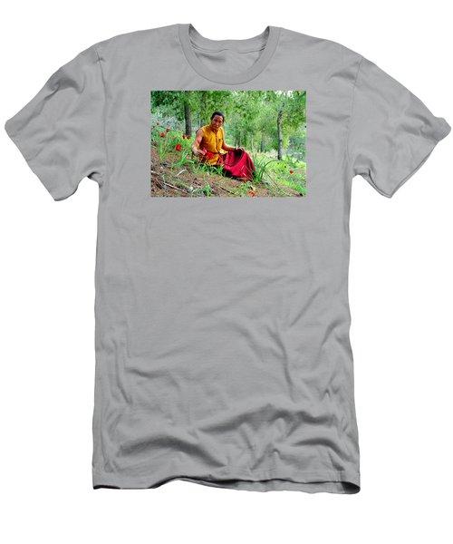 Tibetan Doctor In Lahav Forest Men's T-Shirt (Athletic Fit)