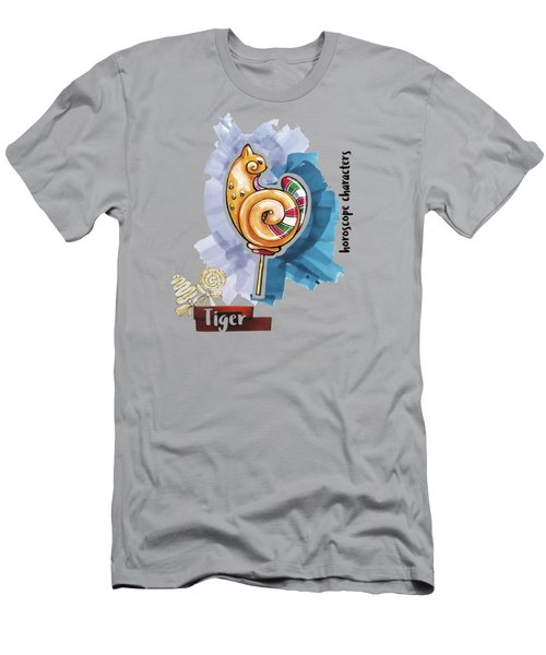 Tiger Horoscope Men's T-Shirt (Athletic Fit)