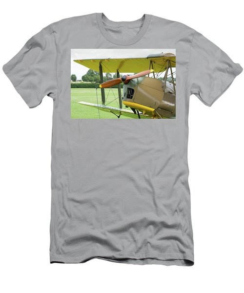 Men's T-Shirt (Athletic Fit) featuring the photograph Tiger Moth Propeller by Gary Eason