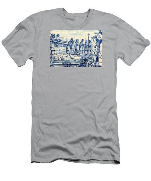 Tile Art Angola Men's T-Shirt (Slim Fit) by John Potts