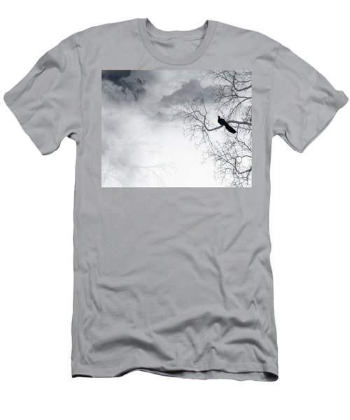 Men's T-Shirt (Slim Fit) featuring the digital art Timing Is Everything by Trilby Cole