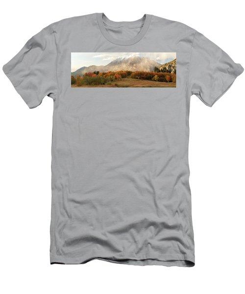 Men's T-Shirt (Athletic Fit) featuring the photograph Timpanogos Veil by Dustin LeFevre
