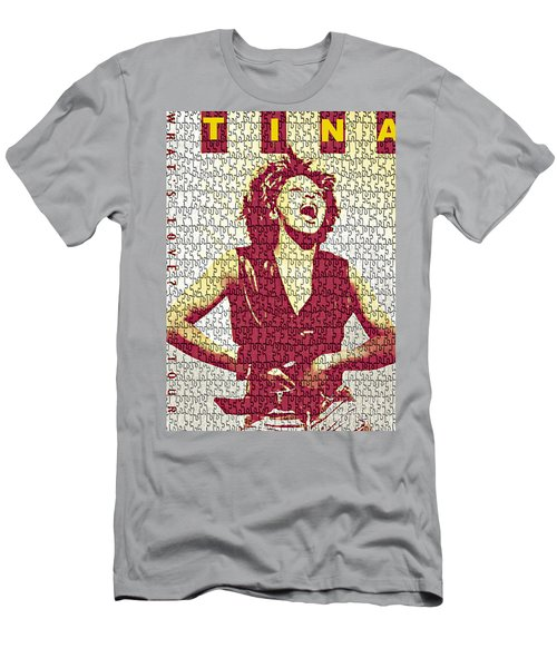 Tina Turner - Digital Graphic Poster Men's T-Shirt (Athletic Fit)