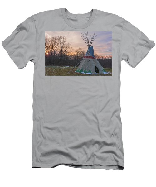 Tipi Sunset Men's T-Shirt (Slim Fit) by Angelo Marcialis