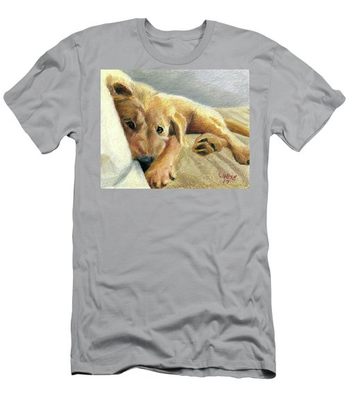 Tired Puppy Men's T-Shirt (Athletic Fit)