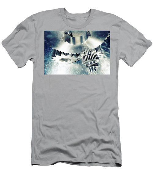 Titanium Aerospace Cogs And Gears Men's T-Shirt (Slim Fit) by Christian Lagereek