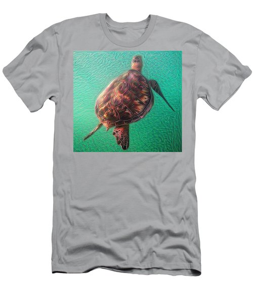 Tito The Turtle Men's T-Shirt (Slim Fit) by Erika Swartzkopf