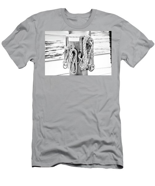 Men's T-Shirt (Slim Fit) featuring the photograph To Sail Or Knot by Greg Fortier