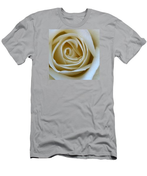 Men's T-Shirt (Athletic Fit) featuring the photograph To The Heart Of The Rose by Julian Perry