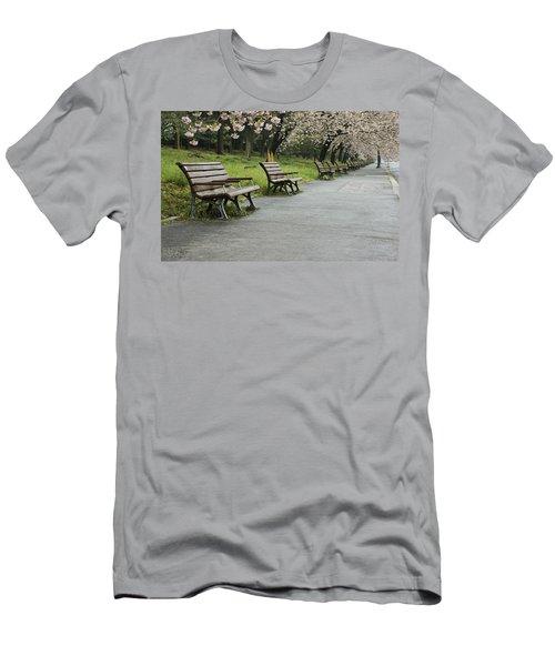 Tokyo Cherry Blossoms  Men's T-Shirt (Athletic Fit)