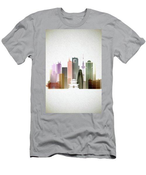 Tokyo  Cityscape Men's T-Shirt (Slim Fit) by Dim Dom
