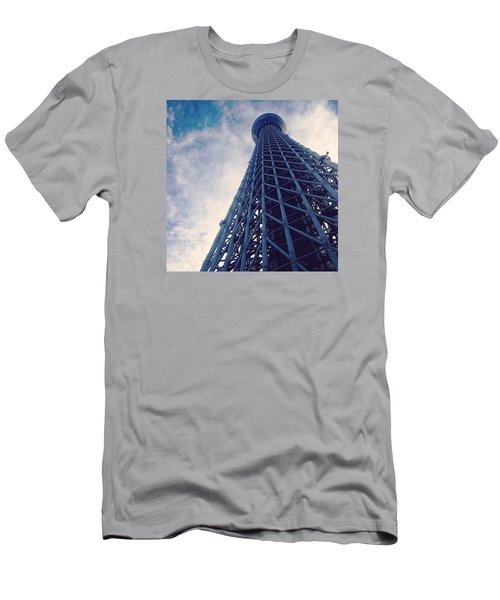 Skytree Tower From The Bottom, Tokyo, Japan Men's T-Shirt (Slim Fit)