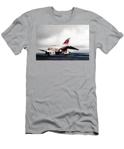 Men's T-Shirt (Slim Fit) featuring the digital art Tomcatter Launch by Peter Chilelli
