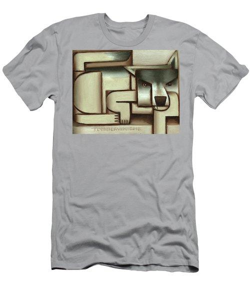 Tommervik Lone Wolf Art Print Men's T-Shirt (Athletic Fit)