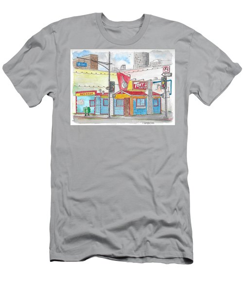 Tony Burger, Downtown Los Angeles, California Men's T-Shirt (Athletic Fit)