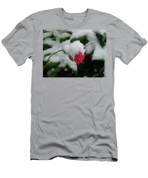 Too Soon Winter - Red Rose  Men's T-Shirt (Athletic Fit)
