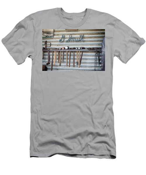 Men's T-Shirt (Athletic Fit) featuring the photograph Tools Of The Trade by Linda Lees