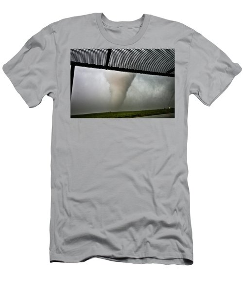 Men's T-Shirt (Slim Fit) featuring the photograph Tornado Near Yorkton Sk. by Ryan Crouse