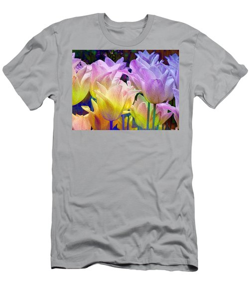 Totally Tulips Two Men's T-Shirt (Athletic Fit)
