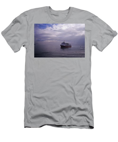 Men's T-Shirt (Athletic Fit) featuring the photograph Tour Boat San Francisco Bay by Frank DiMarco