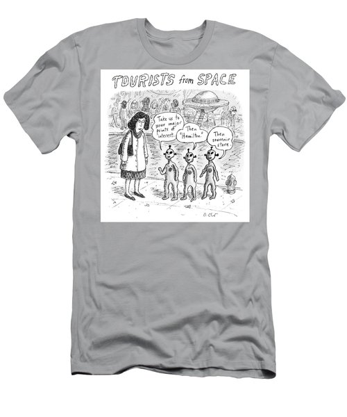 Tourists From Space Men's T-Shirt (Athletic Fit)