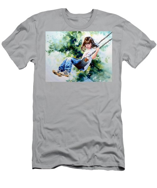 Men's T-Shirt (Athletic Fit) featuring the painting Tracy by Hanne Lore Koehler
