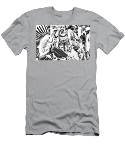 Men's T-Shirt (Slim Fit) featuring the photograph Traditional Dancer  by Clarice Lakota