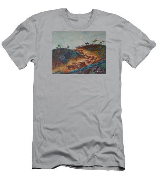Trailin' Em Down Men's T-Shirt (Slim Fit) by Willoughby Senior and Dawn Senior-Trask