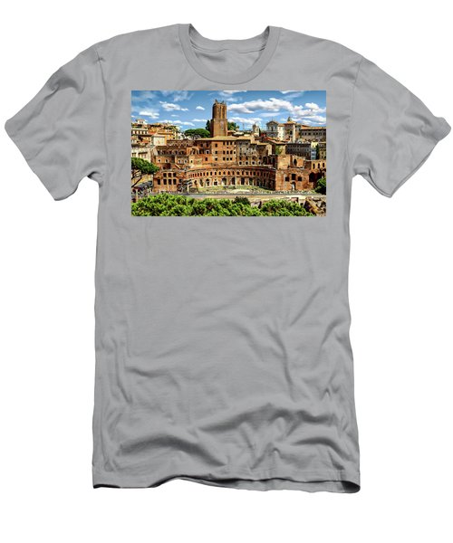 Men's T-Shirt (Athletic Fit) featuring the photograph Trajan's Market by Anthony Dezenzio