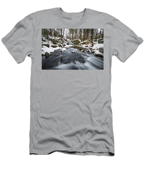 Men's T-Shirt (Athletic Fit) featuring the photograph Trap Falls Winter by Brian Hale